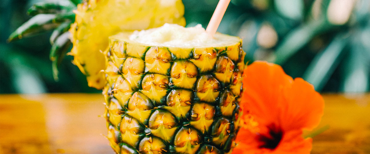 Tropical Drink in a Pineapple