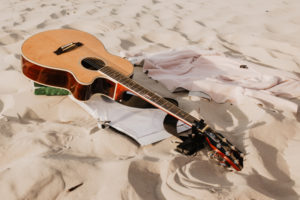 Guitar on the sand